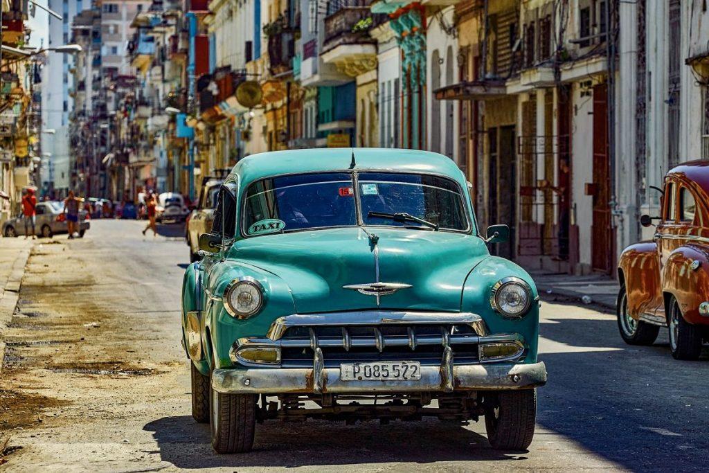 Taxis à Cuba: oldtimer